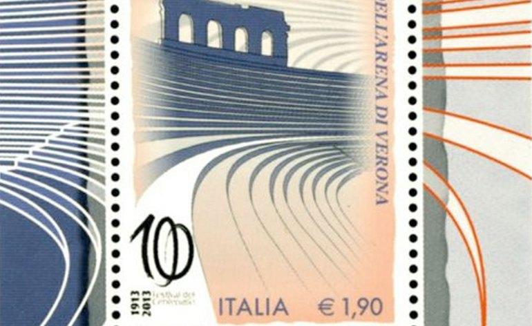 francobollo italia festival centenario lirico arena di verona aida 1913