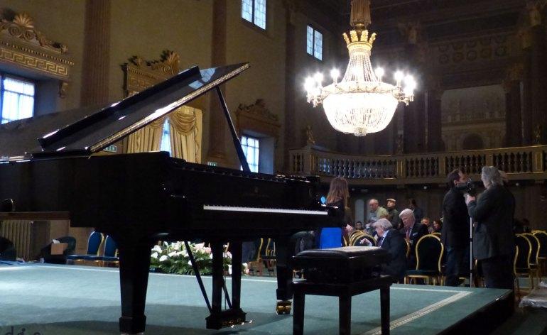 il pianoforte nella sala maffeiana del teatro filarmonico di verona