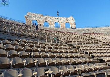 foto delle gradinate e ala dell'anfiteatro arena di verona