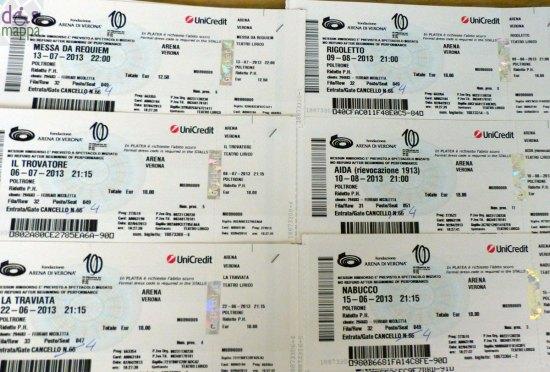 biglietti ridotti disabili per le prime di tutte le opere all'arena di verona per il centenario di aida e del festival lirico