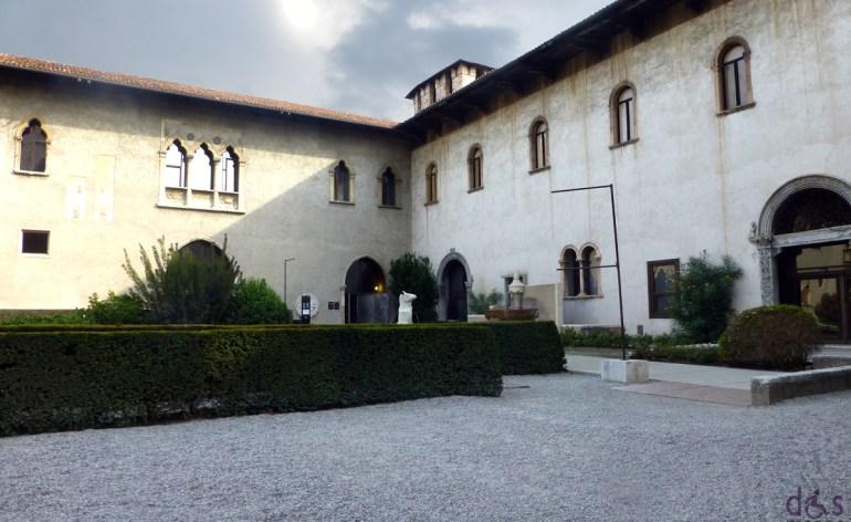 verona, giardino del museo di castelvecchio