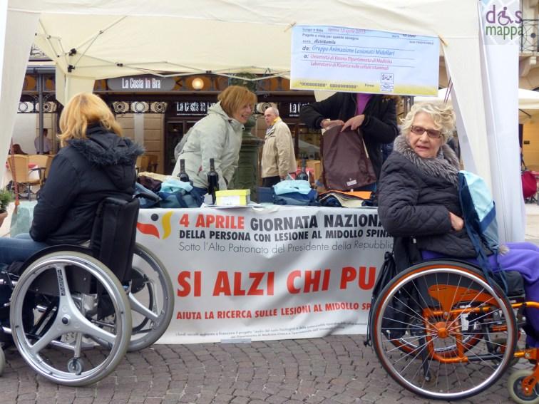 si alzi chi può - il gazebo del galm in piazza bra a verona per la Giornata Nazionale della Persona con Lesione al Midollo Spinale