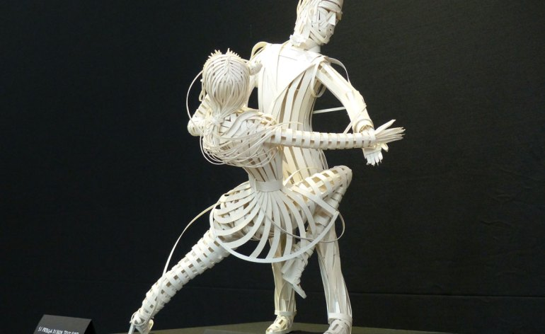 mostra carlo gorni verona grafica e sculture di carta - ballerini tango