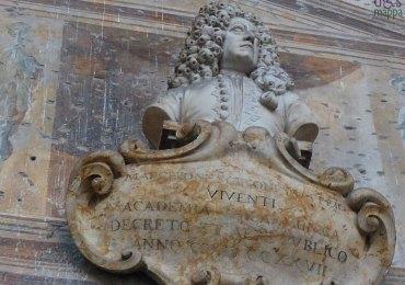 Lapide a Scipione Maffei al Museo Lapidario Maffeiano di Verona