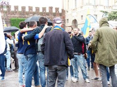 Il Sindaco Flavio Tosi in Piazza Bra a festeggiare il ritorno in serie A dell'Hellas Verona Calcio