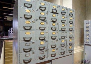 vecchi schedari della biblioteca frinzi dell'università degli studi di verona