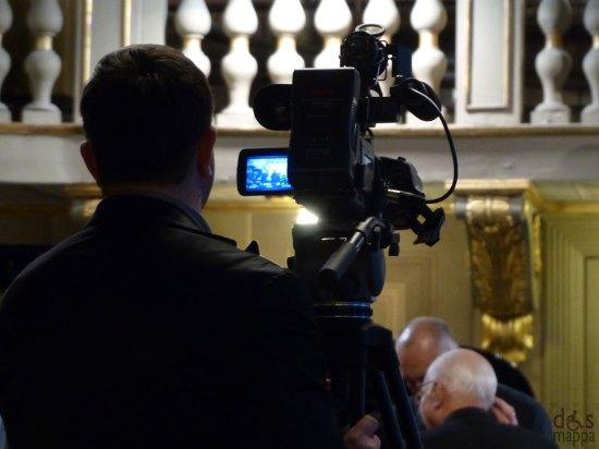 Riprese video in Sala Maffeiana del Teatro Filarmonico di Verona