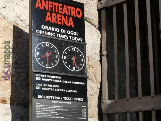 L'entrata della biglietteria dell'Arena
