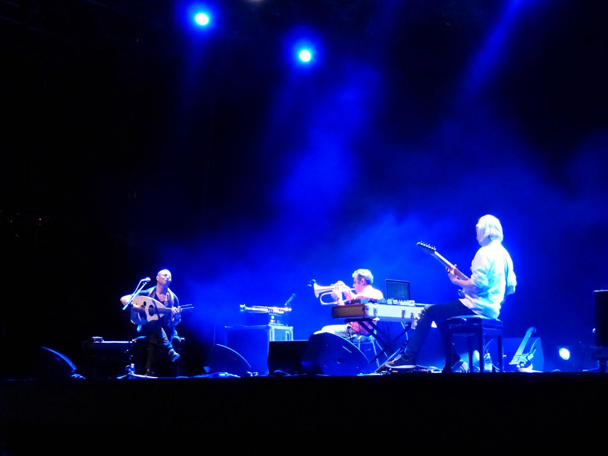 Paolo Fresu, Dhafer Youssef e Eivind Aarset a Rumors Festival, Teatro romano di Verona, 20 giugno 2013