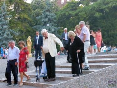 anziani Prima della prima al Festival del Centenario: Il Trovatore, 7 luglio 2013, Arena di Verona