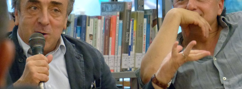 Silvio Orlando e Valerio Binasco L'incontro con attori e regista de Il mercante di Venezia alla Biblioteca Civica di Verona, primo appuntamento de fuoriTeatro dentro la biblioteca | incontrando gli artisti