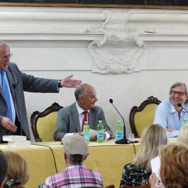 Oggi a Verona, all'Accademia di Agricoltura Scienze e Lettere è intervenuto Vittorio Sgarbi per una Lectio magistralis La pittura nell'alto Adriatico: un patrimonio identitario