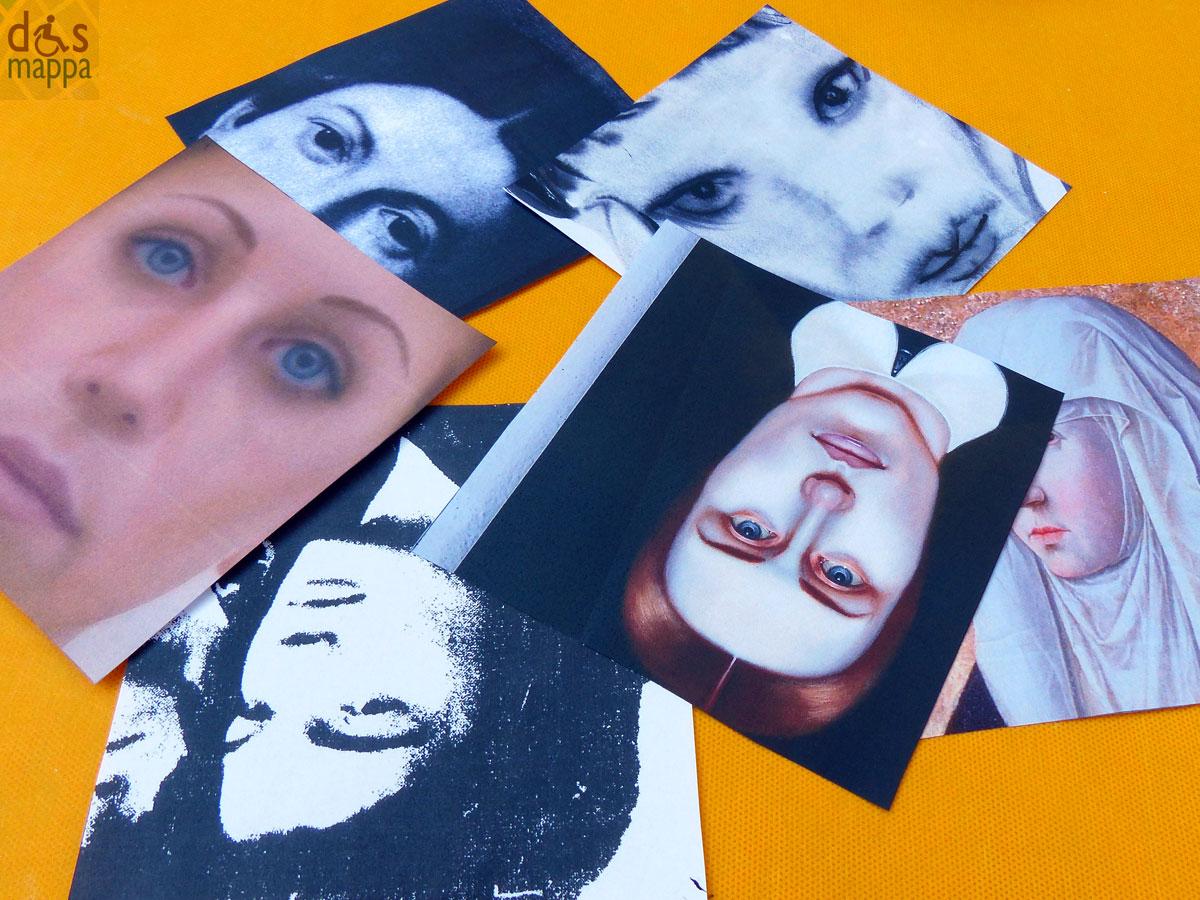 """Tocatì 2013 - L'arte A Sei Facce Laboratorio a cura dell'Area educazione del Mart di Rovereto. Il laboratorio prevede la realizzazione di dadioggetto, applicando alle sei facce di un cubo bianco di polistirolo alcune riproduzioni delle opere esposte nelle mostre """"Antonello da Messina"""" e """"L'altro ritratto"""", che il Mart presenta in anteprima a Verona. Ad ogni faccia del cubo corrisponde una faccia ritratta da un'artista del passato o del presente e ad ogni personaggio si riferisce una domanda del quiz che completa il gioco. L'attività sarà in forma di laboratorio continuo, in modo da poter accogliere in qualsiasi momento le famiglie che desiderano partecipare alla costruzione del gioco."""