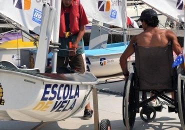 vela disabili carrozzina