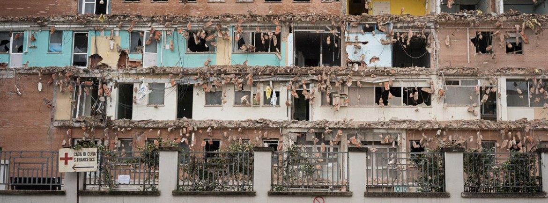 20140301 Demolizione reparto maternita ospedale Borgo Trento Verona