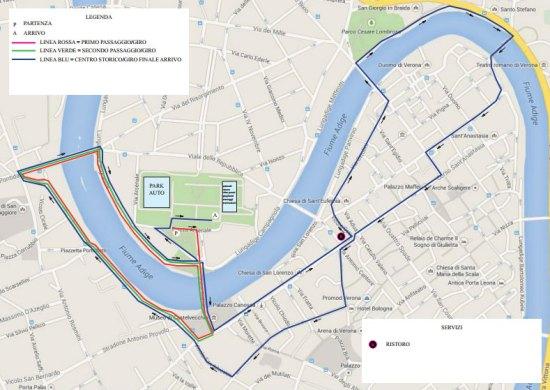 20140329 mappa cartina percorso Palio del drappo verde Verona