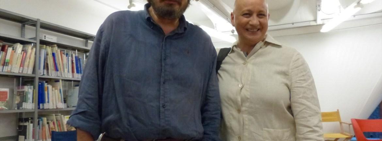 Giuseppe Battiston e Patricia Zanco alla Biblioteca civica di Verona