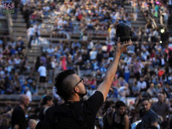 Foto dall'alto alla platea prima del concerto di Emma all'Arena di Verona il 7 luglio 2014