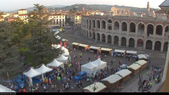 20141005 Verona Marathon Arena Piazza Bra webcam