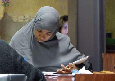 20141031 Studentessa velo Biblioteca Frinzi Verona