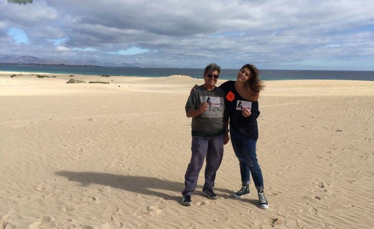Cristina ed Eleonora dalle dune di Fuerte Ventura testimoni di accessibilità per dismappa