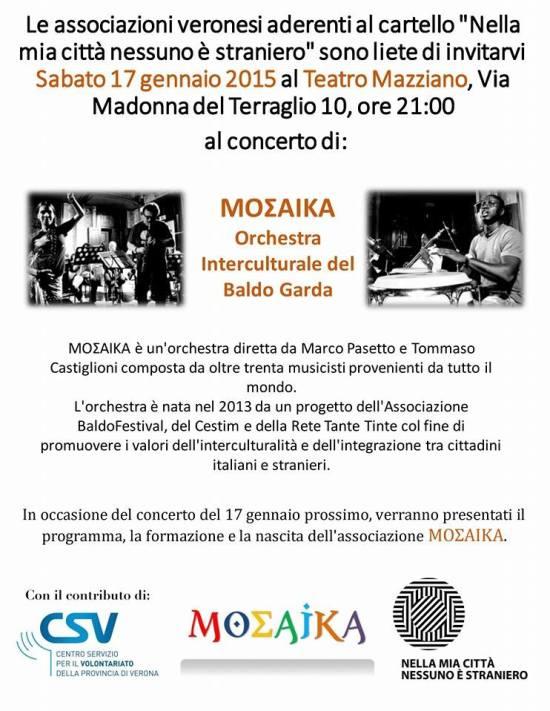 mosaika concerto interculturale verona