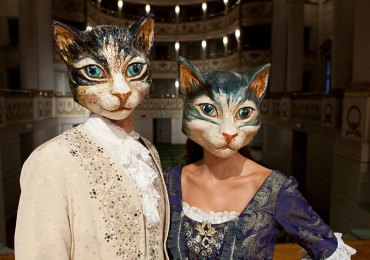 Carnevale maschere cartapesta gatto