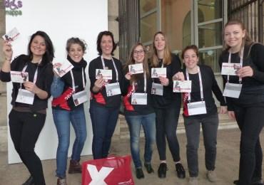 Il gruppo femminile dell'edizione 2015 di TEDxVerona - Beyiond the wall testimonidi accessibilità per dismappa