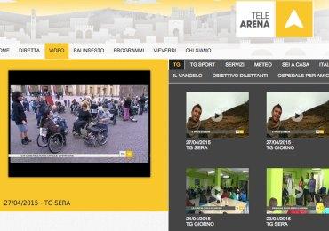 """Il servizio dell'emittente Telearena dedicato alla manifestazione """"25 aprile - Liberazione dalle barriere"""" trasmesso il 27 aprile 2015."""