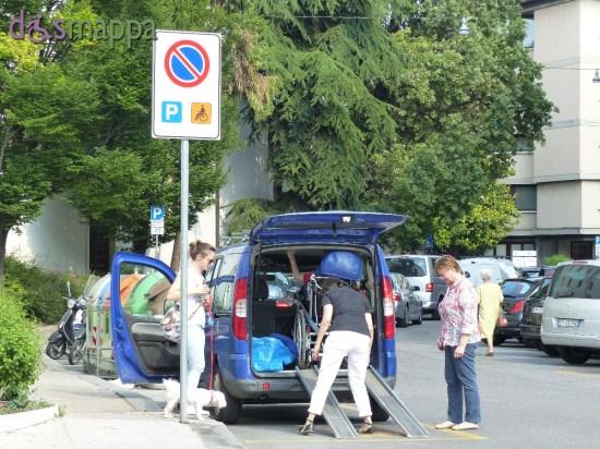 20150518 Parcheggio disabili via Adigetto Verona accessibile dismappa 5