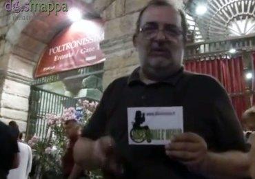 Il giornalista Gianni Manzo, volto storico del TG3 Veneto e ora direttore responsabile della testata online Polithos (www.polithis.it), testimone di accessibilità per dismappa durante l'intervallo del Gala Roberto Bolle and Friends