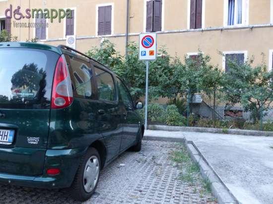 parcheggio disabili retro Teatro Camploy di Verona