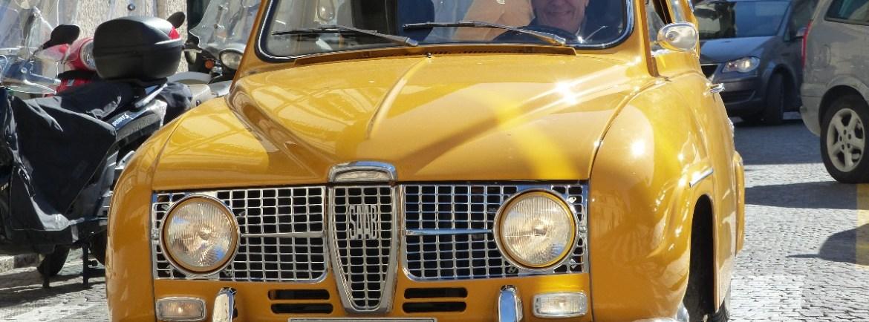 20151020 Auto epoca Saab gialla Bobo Verona dismappa
