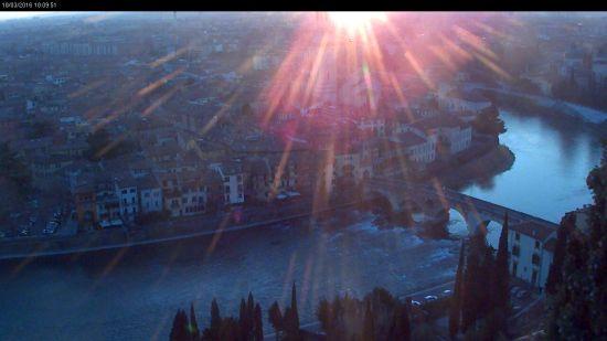 20160318 Tramonto Verona webcam Castel San Pietro