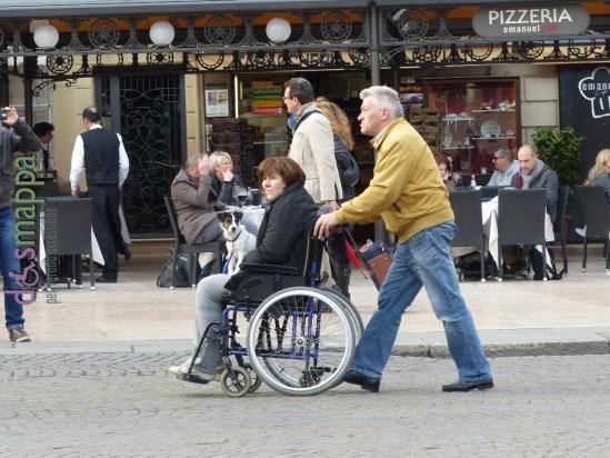 20160325 Verona donna disabile carrozzina cane dismappa
