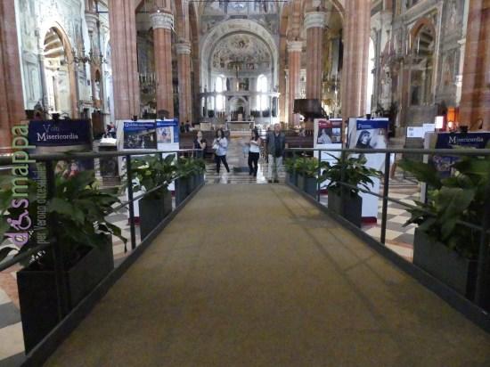 Rampa per sedia a rotelle interno Cattedrale di Verona