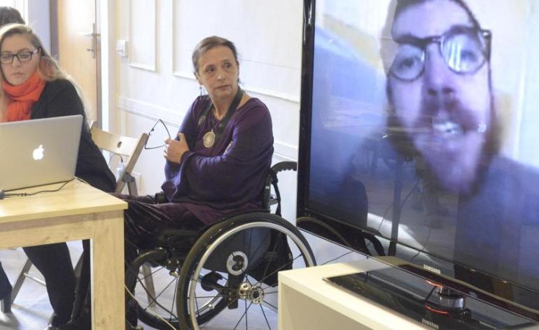 Iacopo Melio a Casa disMappa per la conferenza stampa del festival Non c'è differenza