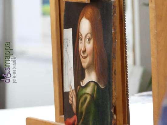 Giovan-Francesco Caroto Ritratto digiovane con disegno infantile - Torna a essere visibile dopo il furto al Museo di Caslvecchio di Verona
