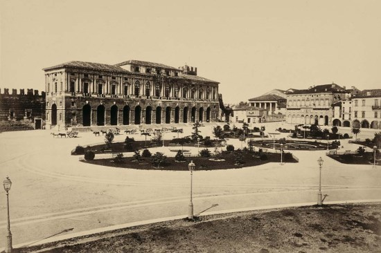 Piazza Bra Gran Guardia Verona 1902