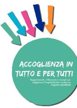 Copertina manuale Accoglienza in tutto e per tutti dedicato al turismo accessibile pubblicato nel 2013