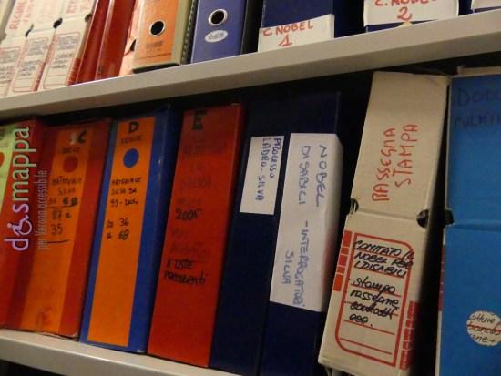 Il faldoni relativi al Nobel per i disabili negli archivi di MusaLab di Verona