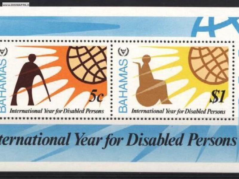 Francobolli a tema disabilità, carrozzine, sport
