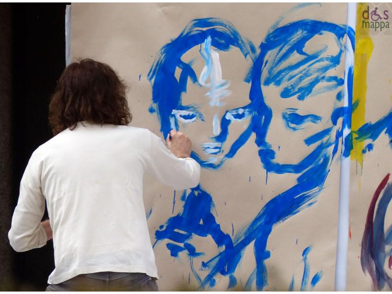 Maurizio Zanolli dipinge dal vivo