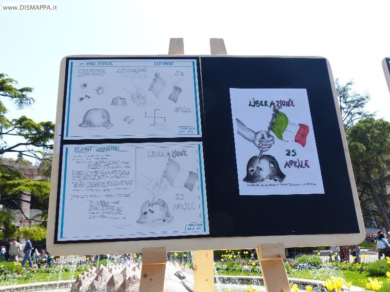 25 aprie festa della liberazione a Verona - Mostra disegni