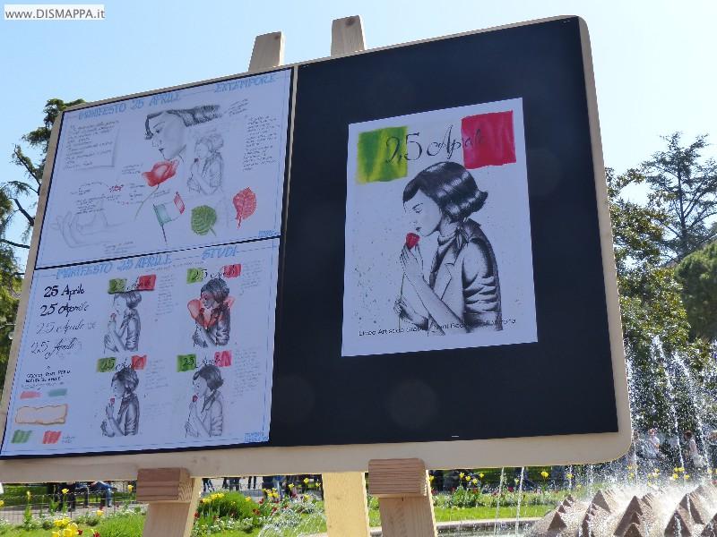 25 aprile festa della liberazione a Verona - Mostra disegni