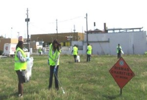 Dismas Charities Macon Staff, Residents Cleanup Vacant Lot