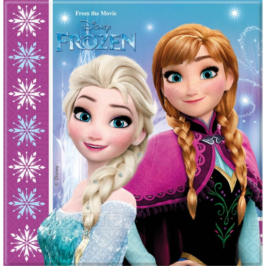 20x Frozen themafeest servetten 33 x 33 cm papier