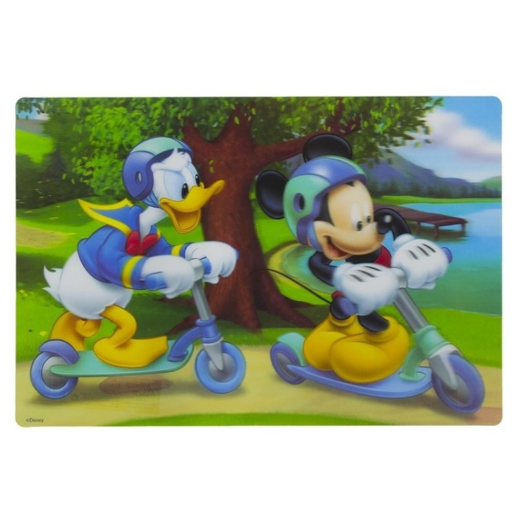 3D placemat Disney Mickey en Donald steppen 42 x 28 cm