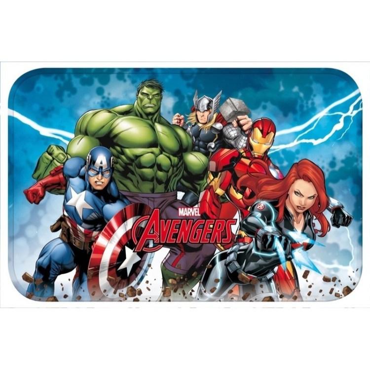 Avengers kinder slaapkamer speelkleed/vloerkleed 40 x 60 cm