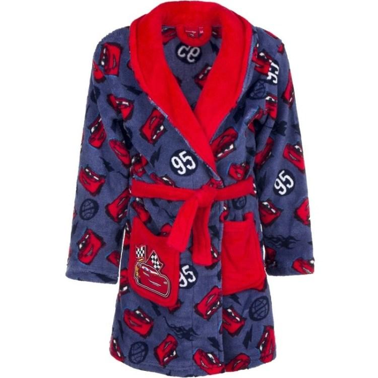 Cars fleece badjas rood/blauw voor jongens
